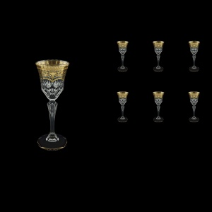Adagio C5 AELK Liqueur Glasses 80ml 6pcs in Flora´s Empire Golden Crystal Light (20-590/L)