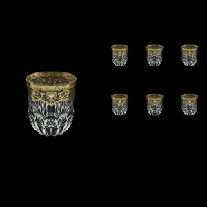 Adagio B2 AELK Whisky Glasses 350ml 6pcs in Flora´s Empire Golden Crystal Light (20-595/L)