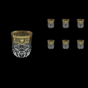 Adagio B2 AELK Whisky Glasses 350ml 6pcs in Flora´s Empire Golden Crystal Light (20-595/L)