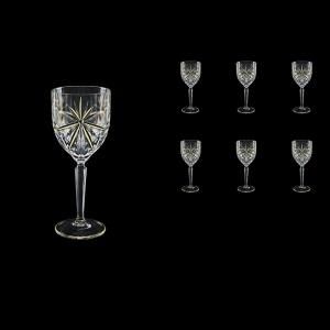 Oasis C4 OCG KCR Wine Glasses 134ml 6pcs in Half Star Gold+KCR (1301/KCR)