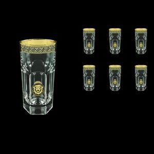 Provenza B0 PLGB Water Glasses 370ml 6pcs in Antique&Leo Golden Black Decor (42-141)