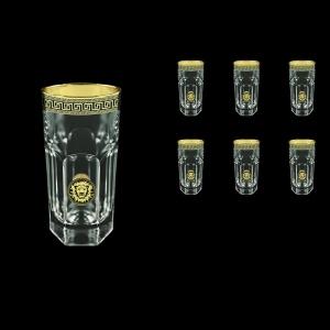Provenza B0 PLGB Water Glasses 370ml 6pcs in Antique&Leo Golden Black Decor (42-141)