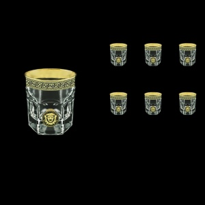 Provenza B2 PLGB Whisky Glasses 280ml 6pcs in Antique&Leo Golden Black Decor (42-136)