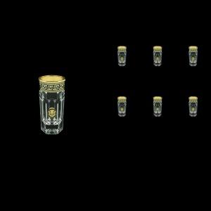 Provenza B5 PLGB Liqueur Tumblers 50ml 6pcs in Antique&Leo Golden Black Decor (42-142)