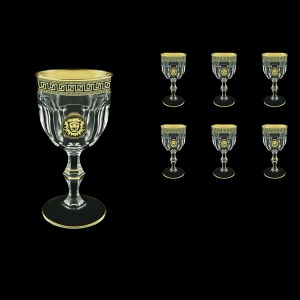 Provenza C2 PLGB  Wine Glasses 230ml 6pcs in Antique&Leo Golden Black Decor (42-140)