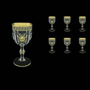 Provenza C3 PLGB Wine Glasses 170ml 6pcs in Antique&Leo Golden Black Decor (42-139)