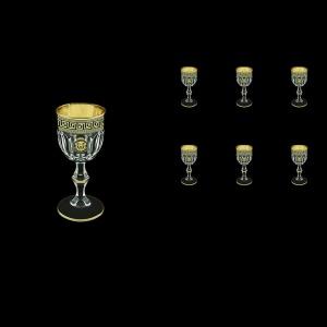 Provenza C5 PLGB Liqueur Glasses 50ml 6pcs in Antique&Leo Golden Black Decor (42-143)