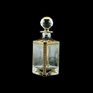 Provenza WD PAGB Whisky Decanter 750ml 1pc in Antique Golden Black Decor (57-134/b)