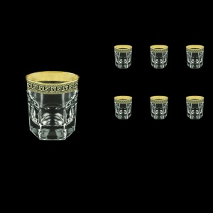 Provenza B2 PAGB Whisky Glasses 280ml 6pcs in Antique Golden Black Decor (57-136/b)
