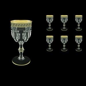 Provenza C2 PAGB Wine Glasses 230ml 6pcs in Antique Golden Black Decor (57-140/b)