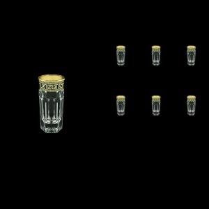 Provenza B5 PAGB Liqueur Tumblers 50ml 6pcs in Antique Golden Black Decor (57-142/b)