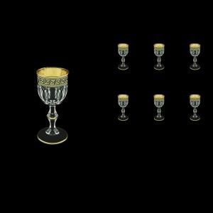 Provenza C5 PAGB Liqueur Glasses 50ml 6pcs in Antique Golden Black Decor (57-143/b)