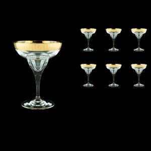 Fusion CMG FAGC b Margarita Glasses 295ml 6pcs in Antique Golden Classic Decor (328/b)