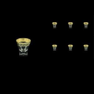 Fusion B5 FAGB b Liqueur Tumblers 65ml 6pcs in Antique Golden Black Decor (57-396/b)