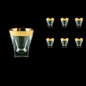 Fusion B2 FAGC b Whisky Glasses 270ml 6pcs in Antique Golden Classic Decor (397/b)
