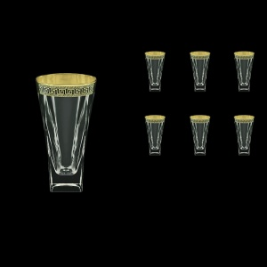 Fusion B0 FAGB b Water Glasses 384ml 6pcs in Antique Golden Black Decor (57-398/b)