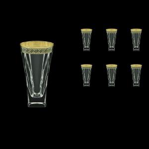 Fusion B0 FAGB b Water Glasses 384ml 6pcs in Antique Golden Black Decor (57-398/b)