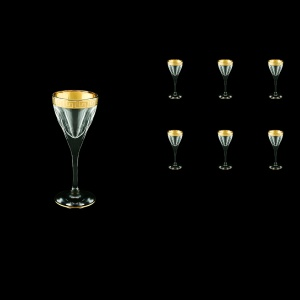 Fusion C5 FAGC b Liqueur Glasses 70ml 6pcs in Antique Golden Classic Decor (430/b)
