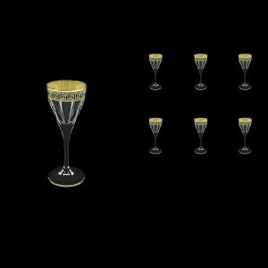 Fusion C5 FAGB b Liqueur Glasses 70ml 6pcs in Antique Golden Black Decor (57-430/b)