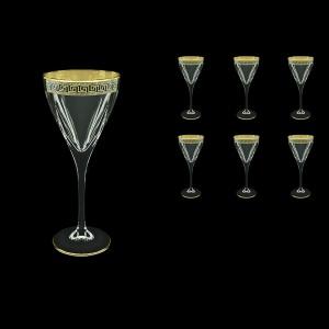 Fusion C2 FAGB b Wine Glasses 250ml 6pcs in Antique Golden Black Decor (57-432/b)