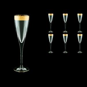 Fusion CFL FAGC b Champagne Flutes 170ml 6pcs in Antique Golden Classic Decor (434/b)
