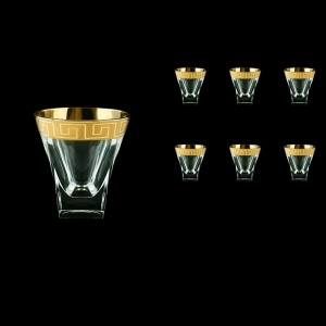 Fusion B3 FAGC b Whisky Glasses 200ml 6pcs in Antique Golden Classic Decor (437/b)