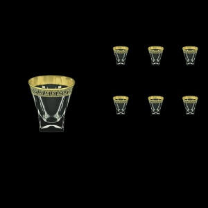 Fusion B3 FAGB b Whisky Glasses 200ml 6pcs in Antique Golden Black Decor (57-437/b)