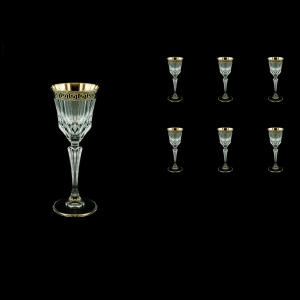 Adagio C5 AAGB b Liqueur Glasses 80ml 6pcs in Antique Golden Black Decor (57-480/b)