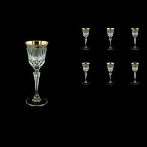 Adagio C5 AAGB b Liqueur Glasses 80ml 6pcs in Antique Golden Black Decor (57-480/b)