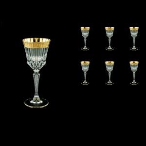 Adagio C4 AAGC b Wine Glasses 150ml 6 pcs in Antique Golden Classic Decor (481/b)