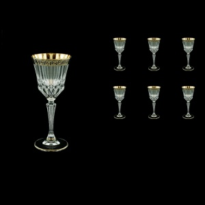Adagio C4 AAGB b Wine Glasses 150ml 6pcs in Antique Golden Black Decor (57-481/b)