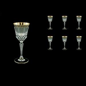 Adagio C4 AAGB b Wine Glasses 150ml 6pcs in Antique Golden Black Decor (57-481/b)