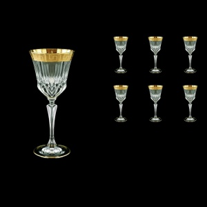 Adagio C3 AAGC b Wine Glasses 220ml 6pcs in Antique Golden Classic Decor (482/b)