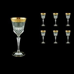 Adagio C3 AAGC b Wine Glasses 220ml 6pcs in Antique Golden Classic Decor (482/b)