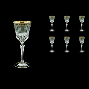 Adagio C3 AAGB b Wine Glasses 220ml 6pcs in Antique Golden Black Decor (57-482/b)