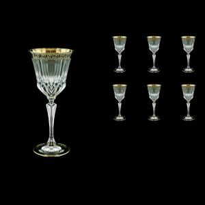 Adagio C3 AAGB b Wine Glasses 220ml 6pcs in Antique Golden Black Decor (57-482/b)