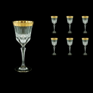 Adagio C2 AAGC b Wine Glasses 280ml 6pcs in Antique Golden Classic Decor (483/b)