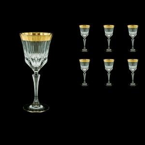 Adagio C2 AAGC b Wine Glasses 280ml 6pcs in Antique Golden Classic Decor (483/b)