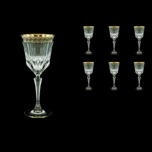Adagio C2 AAGB b Wine Glasses 280ml 6pcs in Antique Golden Black Decor (57-483/b)