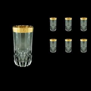 Adagio B0 AAGC b Water Glasses 400ml 6pcs in Antique Golden Classic Decor (484/b)