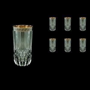 Adagio B0 AAGB b Water Glasses 400ml 6pcs in Antique Golden Black Decor (57-484/b)