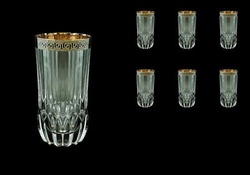 Adagio B0 AAGB b Water Glasses 400ml 6pcs in Antique Golden Black Decor (57-484/b)