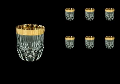 Adagio B2 AAGC b Whisky Glasses 350ml 6pcs in Antique Golden Classic Decor (485/b)