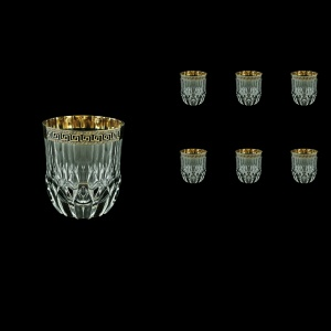 Adagio B2 AAGB b Whisky Glasses 350ml 6pcs in Antique Golden Black Decor (57-485/b)