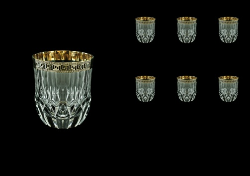 Adagio B2 AAGB b Whisky Glasses 350ml 6pcs in Antique Golden Black Decor (57-485/b)