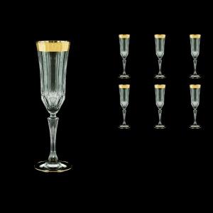 Adagio CFL AAGC b Champagne Flutes 180ml 6pcs in Antique Golden Classic Decor (486/b)