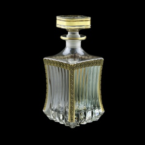 Adagio WD AAGB b Whisky Decanter 820ml 1pc in Antique Golden Black Decor (57-487/b)