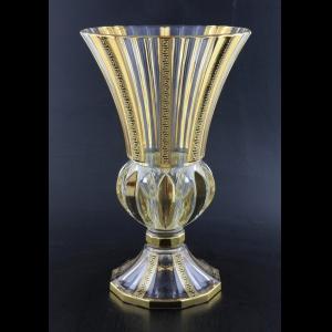 Adagio VVA AAGB b Vase 35cm 1pc in Antique Golden Black Decor (57-405/b)