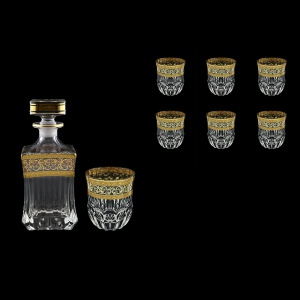Adagio Set WD+B2 AALK 820ml+6x350ml 1+6pcs in Allegro Golden Light Decor (65-649/646/L)