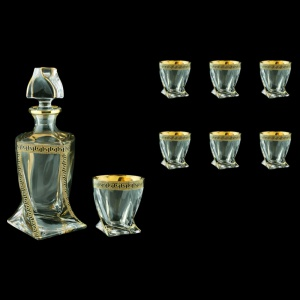 Bohemia Quadro Set WD+B2 QAGB b 1+6 pcs, 850ml+6x340ml, in Ant Gold Bl. D. (57-470/b)